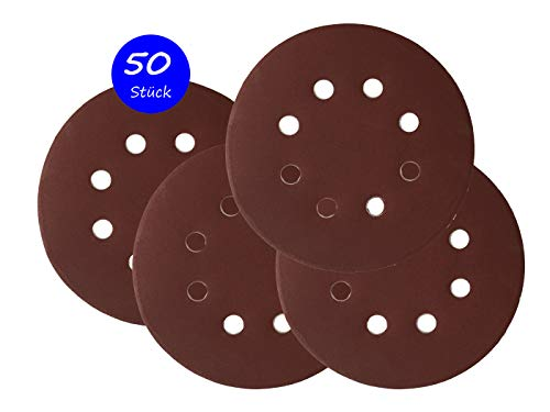 175 Stück Klett-Schleifscheiben 125mm Korn 60 Exzenter Schleifpapier P-D-W ®
