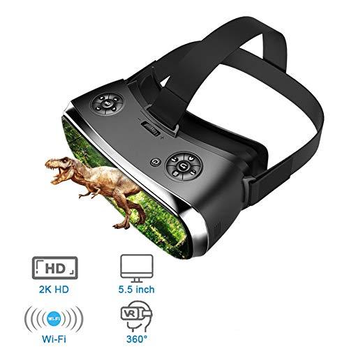 Gafas De Realidad Virtual Todo En Uno VR, Gafas 3D Gafas De PC Virtual Auriculares Todo En Uno VR para PS 4 Xbox 360 / One 2 K HDMI Nibiru Android 5.1 Pantalla 2560 * 1440