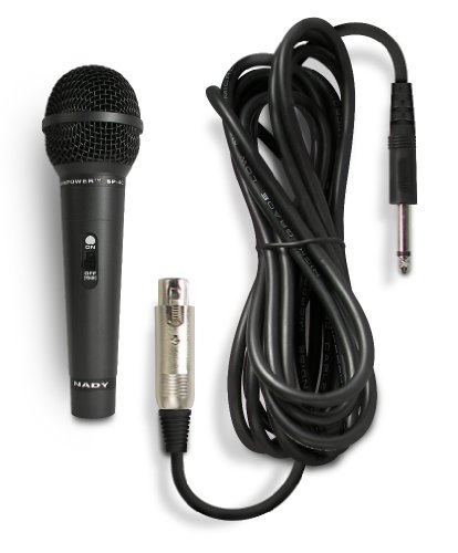 Nady SP-4C Dynamic Neodymium Microphone - Professional vocal microphone for performance, stage, karaoke, public speaking, recording - includes 15' XLR-to-1/4