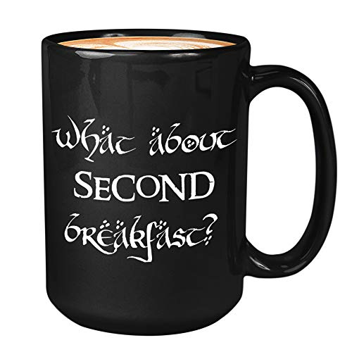 TV Series Coffee Mug - What About Second Breakfast - Season Television American Epic Fantasy Adventure Films Unique Quote