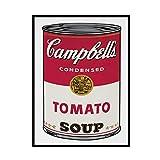 Yoopa Andy Warhol sopa de tomate arte abstracto pared lienzo póster impresión sala de estar decoración del hogar-50X70 CM sin marco 1 Uds