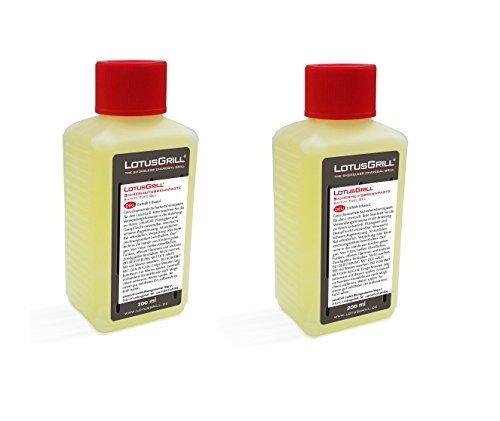 LotusGrill 2 botes de pasta combustible, 200 ml, especialmente desarrollado para la barbacoa de carbón vegetal con baja emisión de humo.