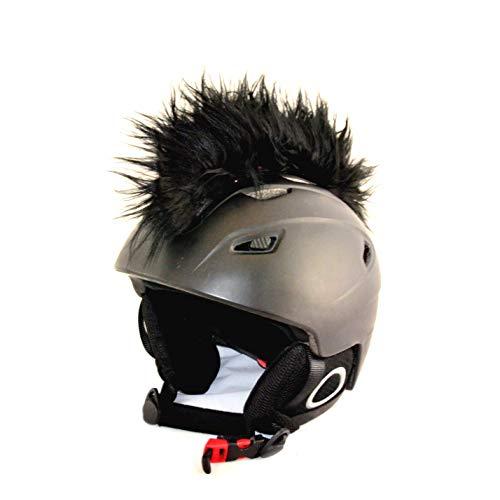 Helm-Irokese für den Skihelm, Snowboardhelm, Kinderskihelm, Kinderhelm, Motorradhelm oder Fahrradhelm - - Der HINGUCKER - Der Helm-Aufkleber für Kinder und Erwachsene HELMDEKO (Schwarz)