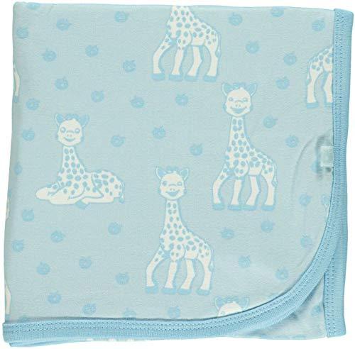Sophie la girafe Babydecke 85x85 Decke in rosa und blau für Jungs und Mädchen in organic cotton Bio Baumwolle (blau)