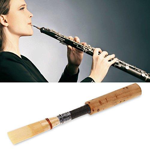 Demeras Mittleres Oboenpfeifenstück Einfache Verwendung von Oboenschilf Bietet eine Lange Lebensdauer Oboenschilf Oboenzubehör für Oboenspieler für Konzerte für Oboen(1 Sold)
