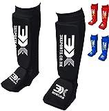 3X Professional Choice Shin Instep Almohadillas de Espuma Protector de pies Muay Thai Kick Boxing MMA UFC Artes Marciales Protector de piernas