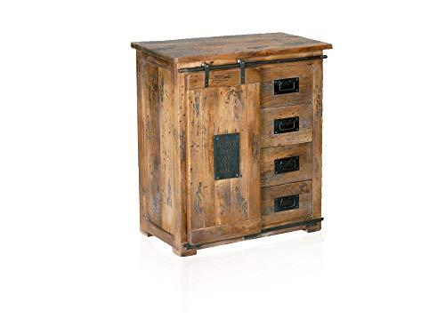 moebel-eins Bristol Sideboard VIII, Material Massivholz, Mango rustikal