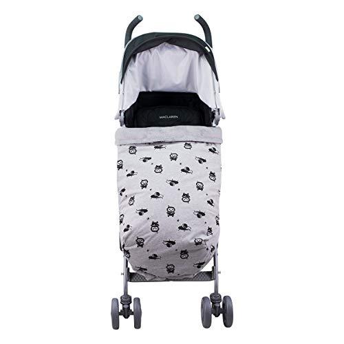 JANABEBE Universal Baby Fußsack für Kinderwagen (SPACE ROBOT, FLEECE)