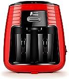 Sooiy Cafetera Filtro de América Máquina de caféHogar Mini 2 Taza de Cafeteras Viajes automática Secador de Pelo con 2 Taza de cerámica Anti-Goteo Sistema 250ml 450W Red cafetera Espresso