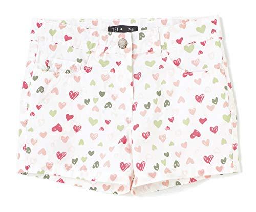TEX - Pantalón Corto Estampado de Niña, Verde Manzana, 13-14 años