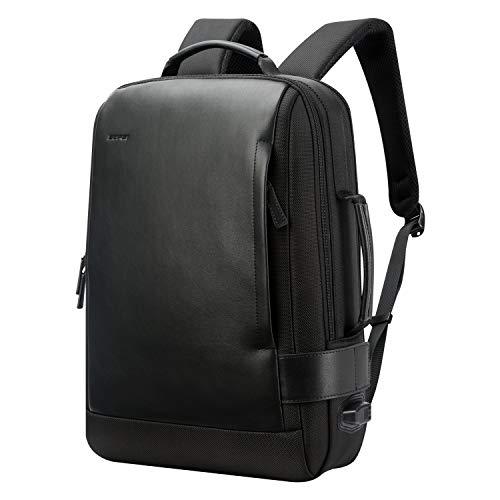 BOPAI Business 15.6 Zoll Laptop Rucksack Intelligente Erhöhung Fach Unsichtbarer Diebstahlsicherer Computer Reise Rucksack USB Aufladung und Wasserabweisender College Herren Daypack, Schwarz