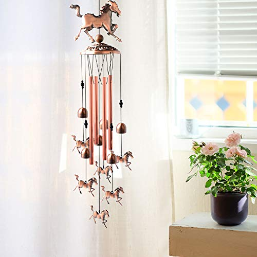ShangTianFeng Horse Gifts for Women Horse Decor Horse Chimes Mom Best Gift Home Rustic Outdoor Garden Decor Wind Chime Horse Wind Chimes
