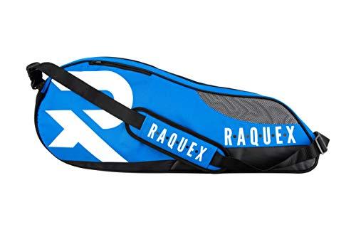 Raquex Bolsa para raqueta de squash, tenis y bádminton con capacidad para hasta 6...