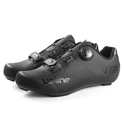 RHSMW Zapatillas De Ciclismo De Carretera, Zapatillas De Ciclismo, Autoblocante Giratorio para Hombres Zapatillas Deportivas De Ciclismo Ultraligeras Transpirables Profesionales con Autobloqueo
