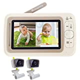 Moonybaby Split 30 Baby Monitor Split Screen with 2 Cameras, No WiFi, Extended...