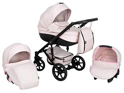 Kombi Kinderwagen 3in1 System Autositz Babyschale Zeo Storm (ST4) Kinderwagen Sportwagen Babywagen Komplettset Buggy Babywanne Kinderbuggy