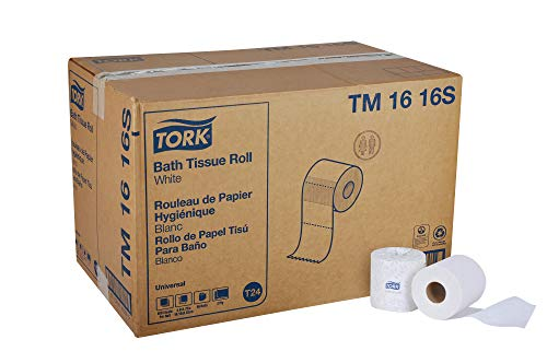 Tork Universal TM1616S Bath Tissue Roll, 2-Ply, 4