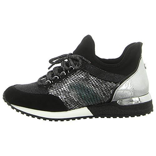 La Strada Damen Sneaker Halbschuhe 1900356-6042 Combi Black/Silver (Numeric_38)