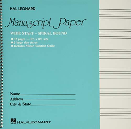 Wide Staff Wirebound Manuscript Paper (Aqua Cover) (PAPETERIE)