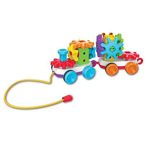 The Learning Journey Techno Kids – Stack & Spin Pull Along Train – STEM Toddler Toys & Gifts for Boys & Girls Ages 2+ Years – Mind Building Preschool Learning Toy