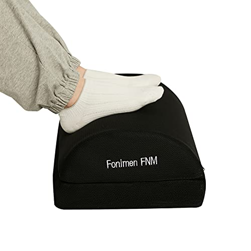 Fonimen FNM Poggiapiedi da Scrivania Regolabile Poggiapiedi con 2 Altezze Opzionali 45x30x15cm FT-01