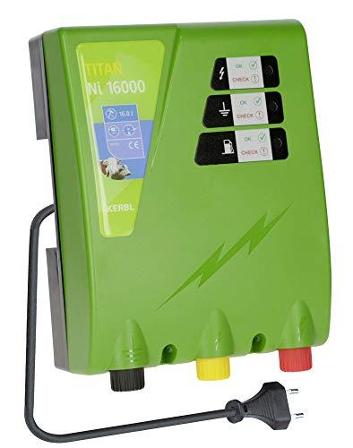 Kerbl Weidezaungerät Titan NI 16000, 16.0 J Weidezaun Gerät Stromversorgung Netzgerät 230V