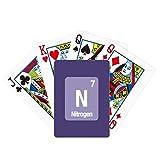 N Nitrogen Checal Element Science Poker Juego de mesa de diversión de tarjeta mágica