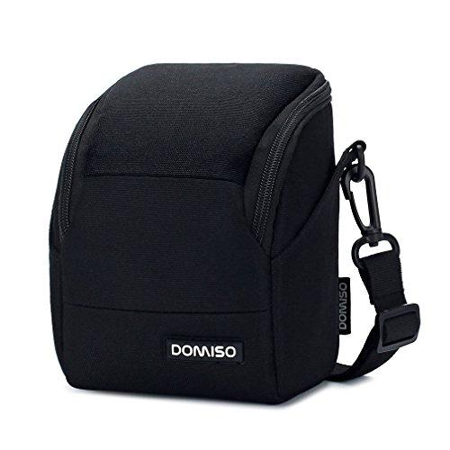 DOMISO Funda para cámara compacta digital sin espejo para Canon EOS M50 M5 M6 PowerShot SX540 SX70/SONY A5100 A6000 A6300 A7/Nikon Coolpix B500 B700/Olympus E-PL8 E-PL9, negro