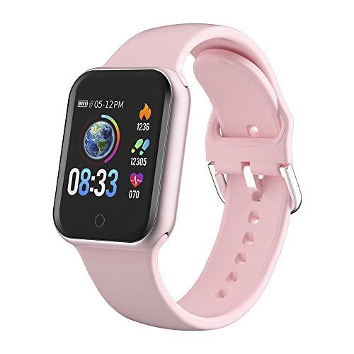 LIFEBEE Smartwatch, Reloj Inteligente Hombre Mujer con Pantalla 1.4 Táctil Completa Pulsera de Actividad Inteligente Impermeable IP68, Monitor de Sueño Calorías Pulsómetros para Android iOS (Rosa)