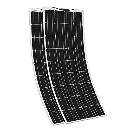 XINPUGUANG Módulo solar flexible del panel solar 18v de 200w 2pcs 100w Mono para el cargador de batería del coche 12v del barco de rv