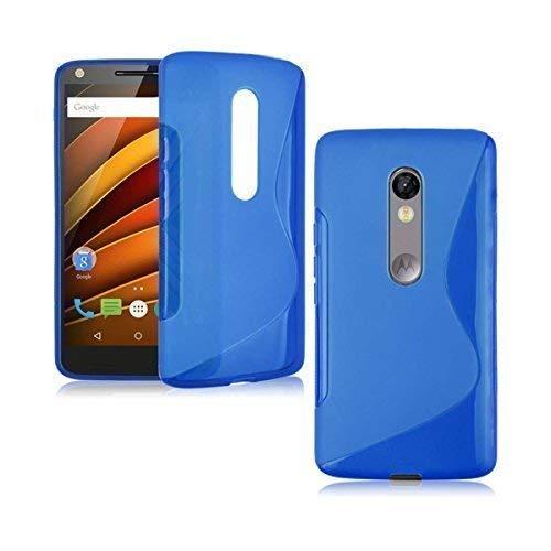 bester der welt Motorola Moto X Force S-Line Silikongel in blauer Schutzhülle für Gadget Boxx 2021