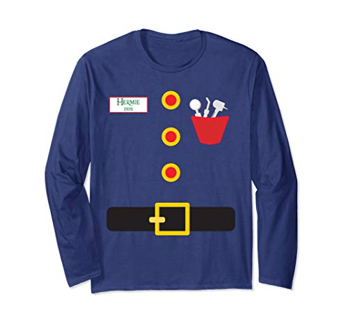 Elf Dentist Funny Christmas Long Sleeve T-Shirt