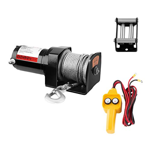 MSW Elektrische Seilwinde Seilzug Offroad Motorwinde PROPULLATOR 2000-C (Zugleistung: 907 kg / 2.000 lbs, Permanentmagnetmotor, 15 m Seillänge, Trommelgröße: Ø 32 mm)