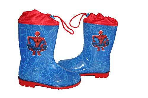 Bottes de pluies se ressert à mi -mollet Spiderman (bleu, 32)