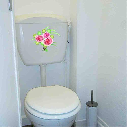 JPDP 22.2 * 19,1 cm Rose Bloem Boeket Home Muursticker Fotobehang Creatieve Toilet Decal Decor