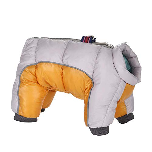Verstellbare Hundehalsband 1 Satz 4 Stücke Haustier Winter Warme Schuhe Stiefel   Baumwollmischung Winter Schnee Warme Wanderschuhe Nette Fancy Dress Up Haustier Hund S ~ L2, Khaki, XL