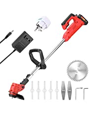 21V Electric Lawn Mower Cordless household Grass Trimmer Cutter Portable Pruning Garden Tool