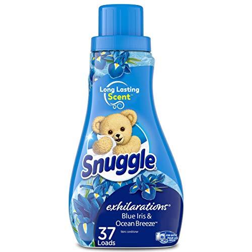 Snuggle Exhilarations Liquid Fabric Softener, Blue Iris & Ocean Breeze, 32 Fluid Ounces, 37 Loads
