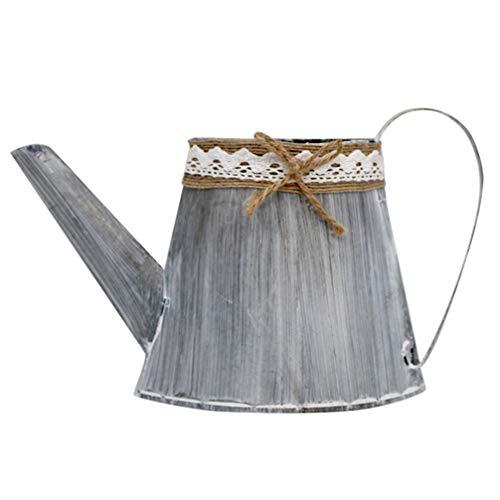 BESPORTBLE Maceta vintage de hierro con forma de caldero de estilo rústico,...