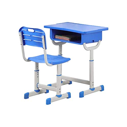 PMU Kids Desk and Chair Set Height Adjustable Ergonomic Children's Desk and Chair Workstation with Drawer Child Schoo Desk Student Study Writing Desk and Chair Set