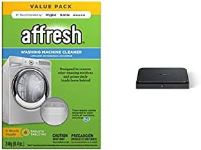 Affresh W10501250 Washing Machine Cleaner, 6 Tablets: Cleans Front Load and Top Load Washers, Including HE + Amazon Dash Smart Shelf (Small - 7