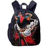 Waterproof Children Backpack, Infinite Shadow The Hedgehog Forces Logo Sports Backpacks With Bottle Side Pockets, Multifunction Cool Daycare Bag For Boys Girls