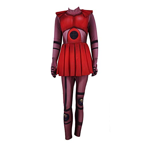 Circus Baby Costumes Five Nights at Freddy's Sister Cosplay Bodysuit Halloween Costume for Womens Girls (L, RED)