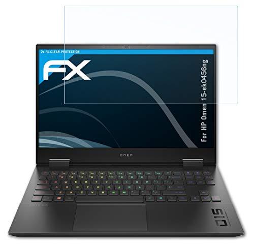 atFolix Schutzfolie kompatibel mit HP Omen 15-ek0456ng Folie, ultraklare FX Bildschirmschutzfolie (2X)