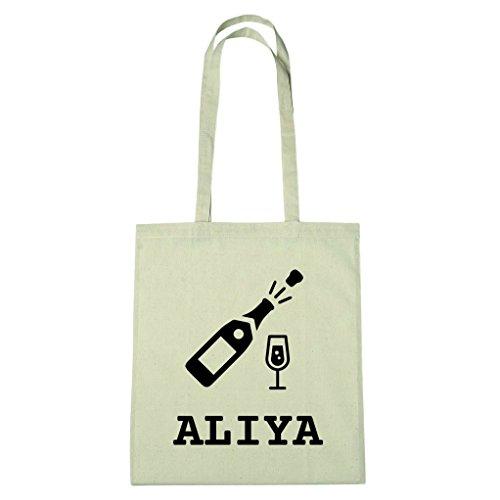 JOllify Baumwolltasche Sylvester - Happy New Year - für ALIYA - Sekt Champagner Prost