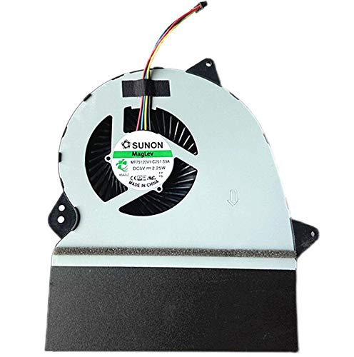 HuiHan Repuesto para ventilador de CPU Asus GL552 GL552J GL552JX GL552V GL552VL GL552VX GL552VW ZX50J.