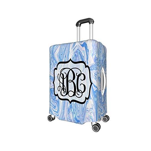Bekende Schilderij Travel Bagage Cover Protector - Monogram Letter Elastische 4 maten pak voor de meeste koffer