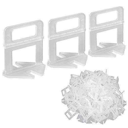 100 piezas Clip de Nivelación para Azulejos 1.0mm Sistema de Nivelación Espaciador Plastico para Nivelación para Ceramica Baldosa Tile Mosaico