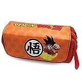 SFF Papelería Lmh Anime Estudiante lápiz Bolso Hijo Goku papelería Bolsa Moda Gran Capacidad Maquillaje Bolsa de lápiz Bolsa de Bolsa de lápiz Cajas de lápiz Dispensadores (Color : Dragon Ball 3)