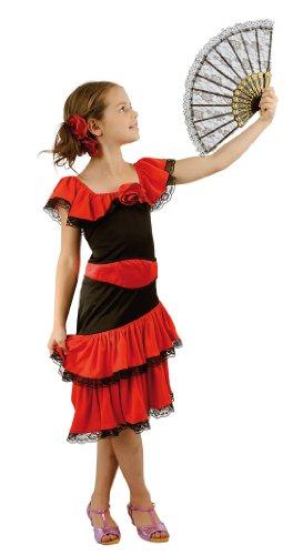 Le danseur espagnol costume fille de beauté de luxe. Taille: 4-6 ans